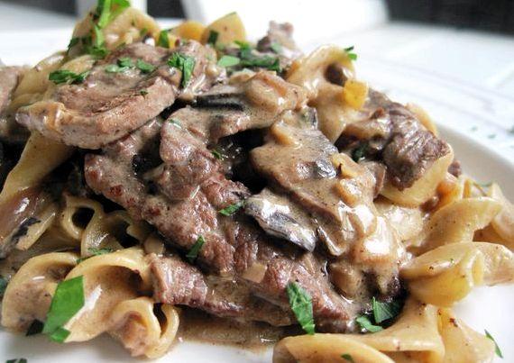 Бефстроганов рецепт из говядины с грибами рецепт пошаговый