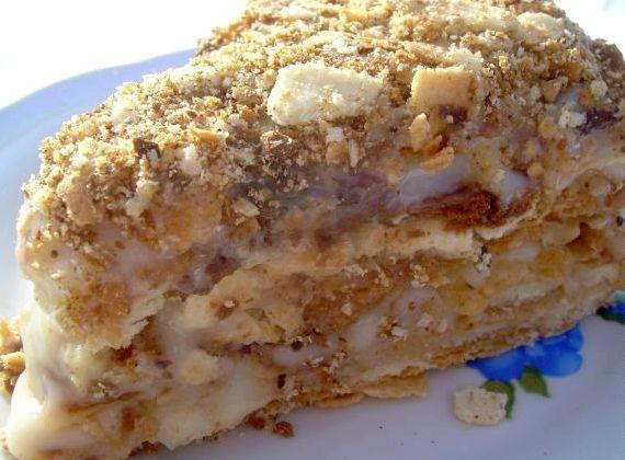 Рецепт торта наполеон с заварным кремом в домашних условиях с фото пошагово