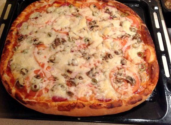 Пицца своими руками без дрожжей в духовке 640