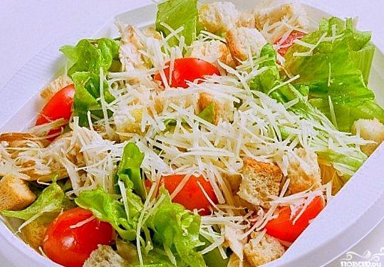 Как делать салат цезарь с курицей рецепт