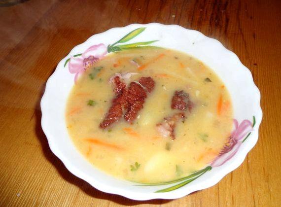 Гороховый суп рецепт с копченой курицей с пошагово