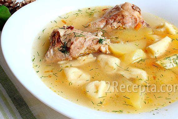 Суп с клецки пошаговый рецепт с