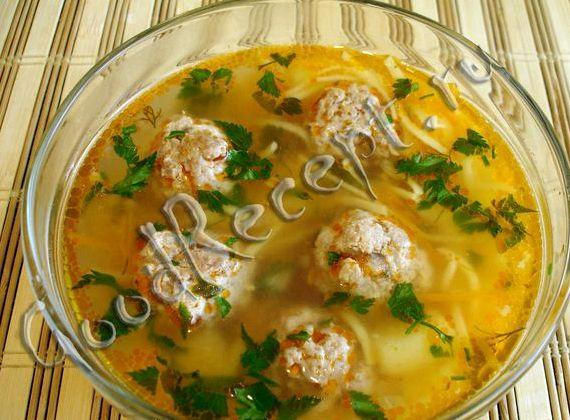 Борщ с фрикадельками пошаговый рецепт с фото