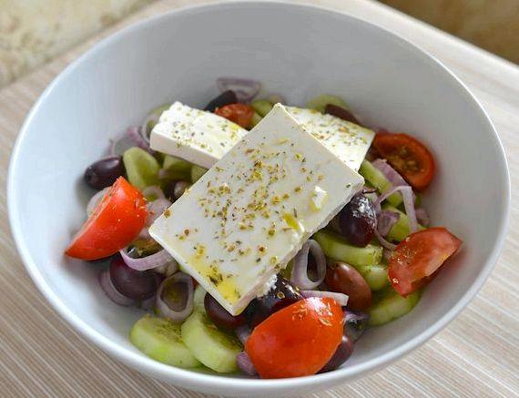 Греческий салат рецепт классический пошаговый с фото