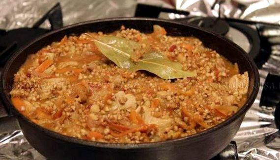 Гречка с мясом на сковороде рецепт с фото