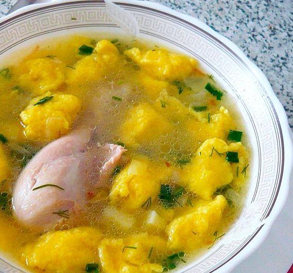 суп с клецками рецепт приготовления в домашних условиях