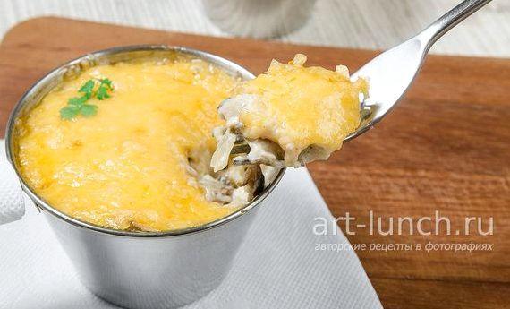 Как приготовить жульен с грибами и курицей пошаговый рецепт с фото