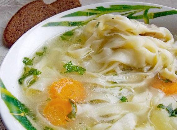 Как сделать домашнюю лапшу для супа рецепт с фото пошагово