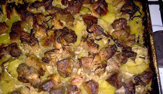 Картошка по французски в духовке рецепт с фото пошагово с фаршем