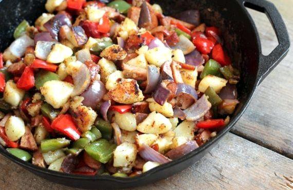 Картошка с грибами и мясом в духовке рецепт с фото
