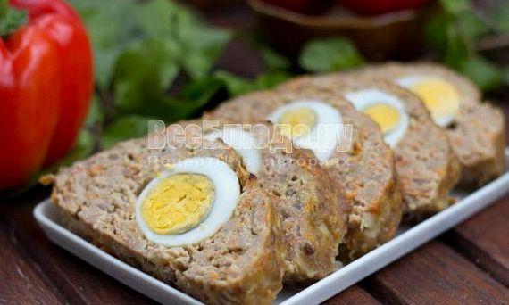 Котлеты с яйцом внутри в духовке рецепт с фото