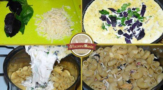 Макароны с креветками в сливочном соусе рецепт