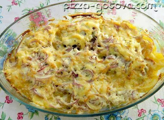 Мясо по французски в духовке рецепт с фото из свинины с картофелем