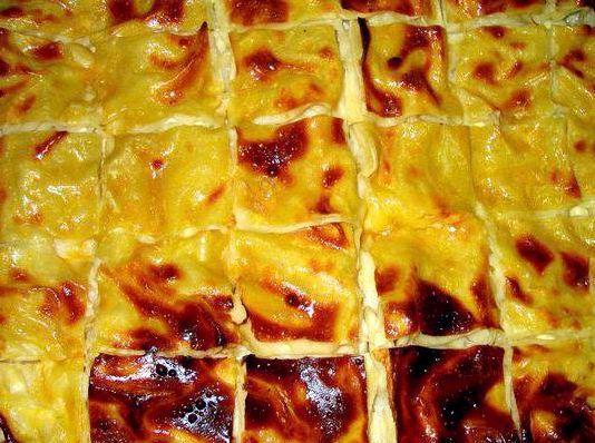 Осетинский пирог с сыром и зеленью рецепт с фото