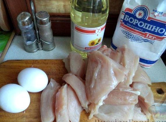 Отбивные из куриного филе в кляре рецепт с фото