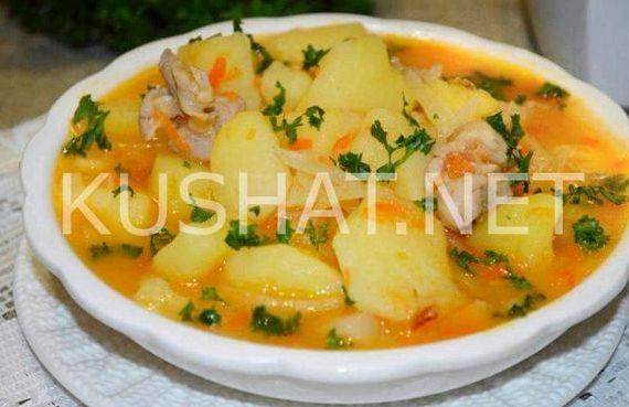 Овощное рагу с мясом и картошкой и капустой рецепт