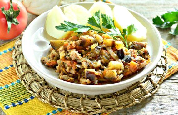 Овощное рагу с мясом и картошкой рецепт с фото