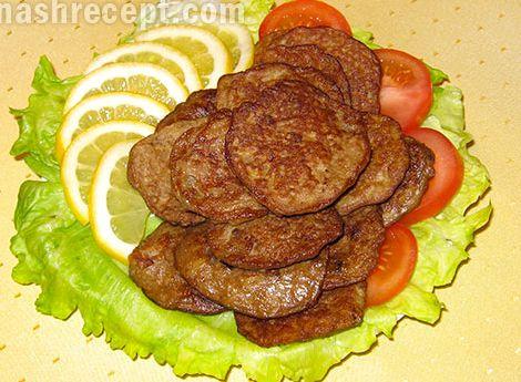 Печёночные оладьи из свиной печени рецепт с фото