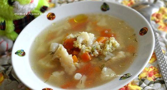суп рыбный с цветной капустой