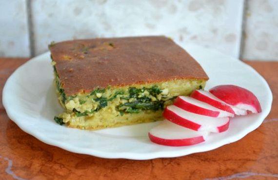 Пирог с картошкой и луком в духовке рецепт с фото