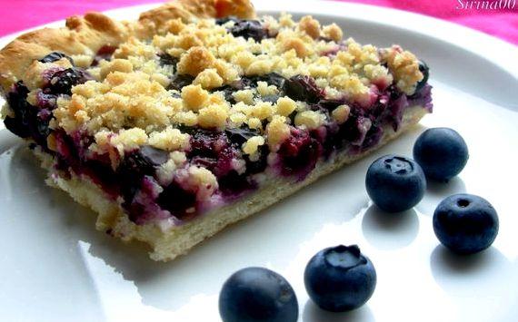 Пирог с замороженными ягодами в духовке рецепт