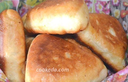 Пирожки с яйцом и рисом в духовке пошаговый рецепт с фото