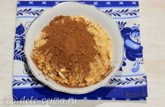 Пирожное картошка из печенья со сгущенкой рецепт