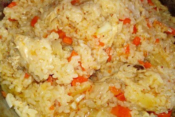 плов с курицей на сковороде рецепт с фото пошагово