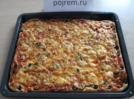 Рецепт итальянской пиццы в домашних условиях в духовке с фото
