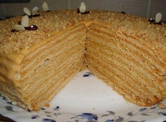 Рецепт медового торта в домашних условиях с фото с заварным кремом