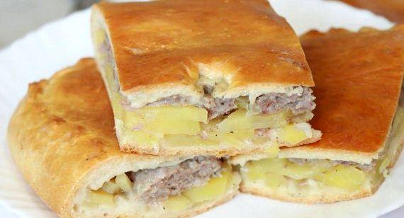 Рецепт пирог с картошкой и с фаршем в духовке рецепт с фото