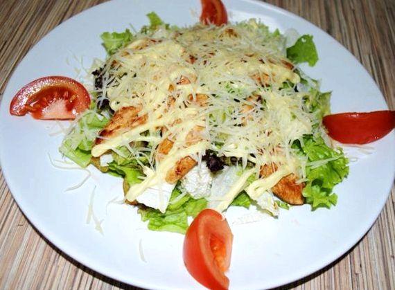 Рецепт салат цезарь с курицей в домашних условиях