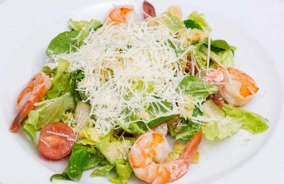 Салат цезарь с креветками в домашних условиях рецепт с фото