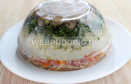 Салат грибная поляна рецепт с шампиньонами