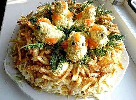 Салат из курицы с грибами рецепт с фото очень вкусный