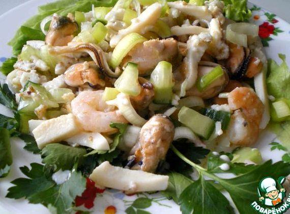 Салат из морского коктейля рецепт с фото очень вкусный