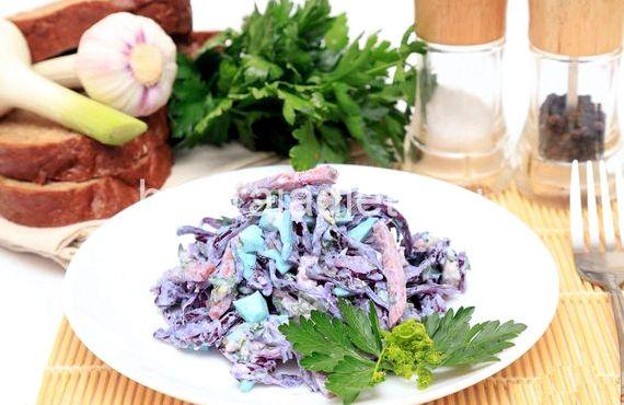 Салат из свежей капусты рецепт с фото очень вкусный