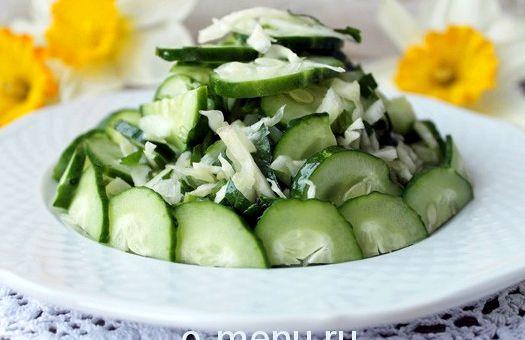 Салат из свежей капусты с огурцом рецепт с фото очень вкусный