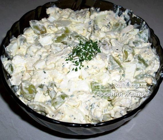 Салат с виноградом и курицей рецепт с фото