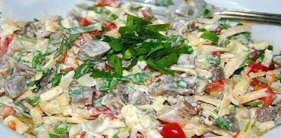 Самый вкусный салат из кальмаров рецепт с фото очень вкусный