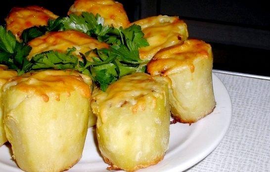 Шампиньоны в духовке целиком рецепт с сыром рецепт с фото