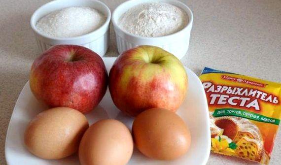 Шарлотка в мультиварке на кефире с яблоками рецепт