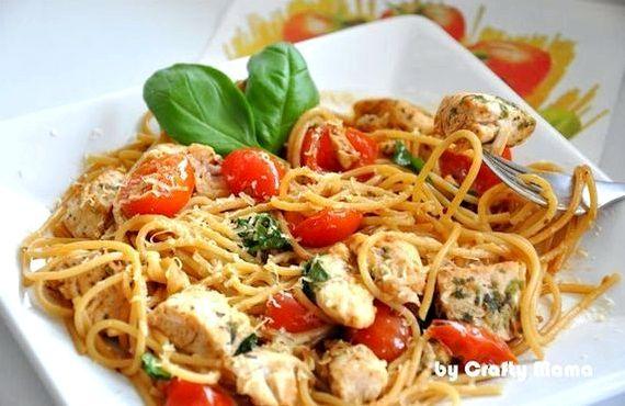 Спагетти с курицей в сливочном соусе рецепт с фото