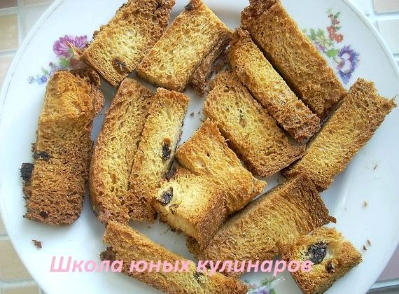Сухарики из черного хлеба в духовке рецепт