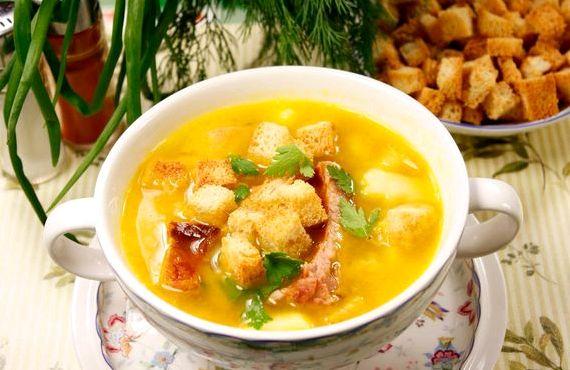 Суп гороховый с копченостями рецепт с фото