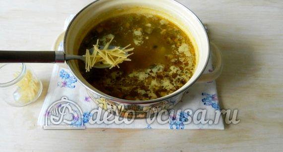 Суп из шампиньонов с картофелем рецепт пошаговый с вермишелью