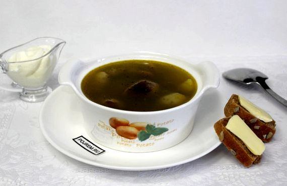 Суп из замороженных белых грибов рецепт с фото