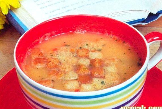 Суп пюре из картофеля с гренками рецепт с фото