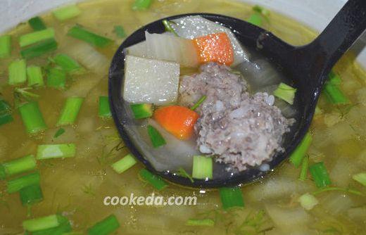 Суп с фрикадельками сырный пошаговый рецепт с фото