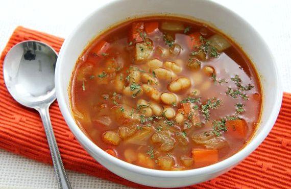 Суп с консервированной фасолью и курицей рецепт с фото